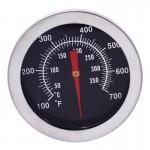 Termometru metalic pentru cuptor, analogic, de insertie, cu tija ascutita
