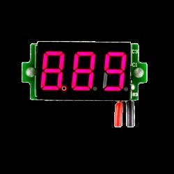 Voltmetru digital cu leduri rosii, 3.5 - 30 V, de culoare negru, cu 3 digit si 2 fire