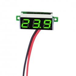 Voltmetru digital mic, cu leduri verzi, 3.5 - 30 V, cu 3 digit si 2 fire