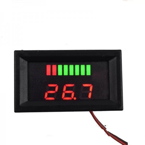 Voltmetru digital cu leduri rosii si indicator, 48 V, 3 digit, 2 fire, carcasa